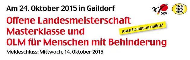 Start frei zur 1. offenen Landesmeisterschaft im Karate des Karate-Verbandes Baden-Württenberg