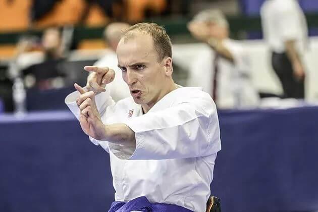 Kleines Finale bei der Para-Karate-Europameisterschaft erreicht und dann gewackelt